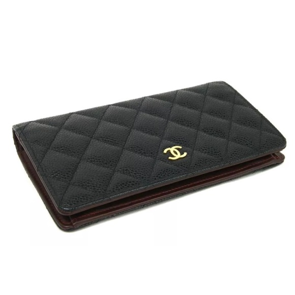 20cff8a63dd3d3 CHANEL Bags | Sold Auth Black Caviar Bifold Wallet | Poshmark